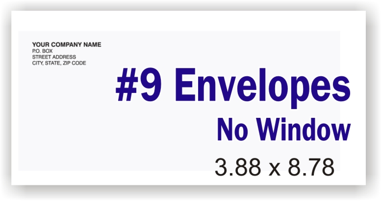 #9 White Business Envelope (no window)