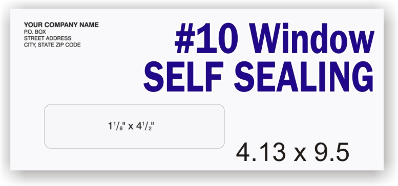 #10 White Self Sealing - Single Window