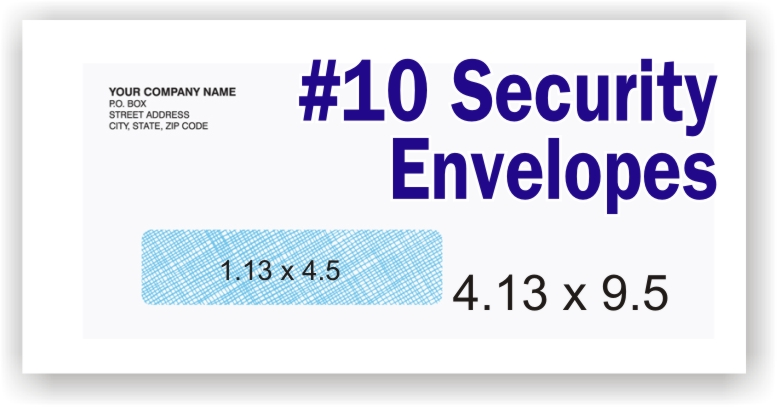#10 White Security Envelope - Single Window