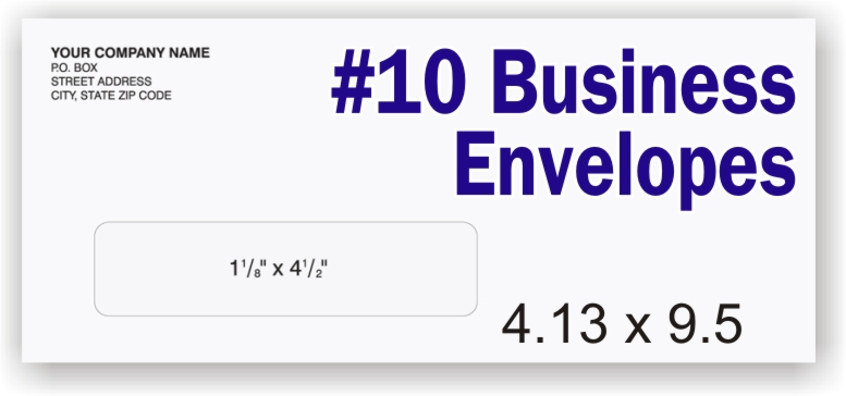 #10 White Business Envelope - Single Window