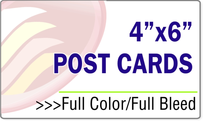 "Post Card 4"" x 6"" - GLOSSY STOCK"