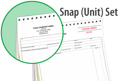 SNAP-UNIT SET FORMS