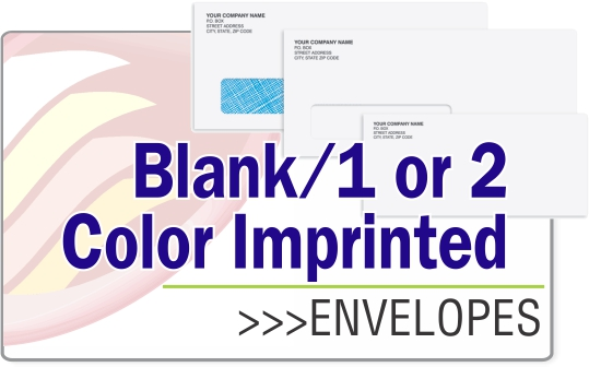 Envelopes - Blank, 1 or 2 Colors