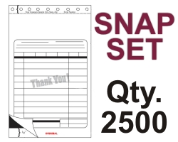 "SNAP SET FORM 5.5"" X 9.125"" 3 PART 2500 QTY"
