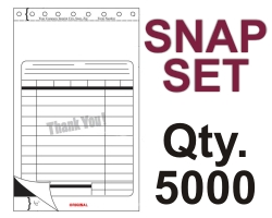 "SNAP SET FORM 5.5"" X 9.125"" 3 PART 5000 QTY"