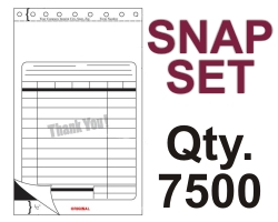 "SNAP SET FORM 5.5"" X 9.125"" 3 PART 7500 QTY"