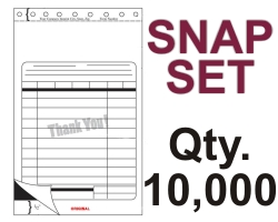 "SNAP SET FORM 5.5"" X 9.125"" 3 PART 10000 QTY"