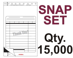 "SNAP SET FORM 5.5"" X 9.125"" 3 PART 15000 QTY"