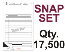 "SNAP SET FORM 5.5"" X 9.125"" 3 PART 17500 QTY"