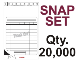 "SNAP SET FORM 5.5"" X 9.125"" 3 PART 20000 QTY"