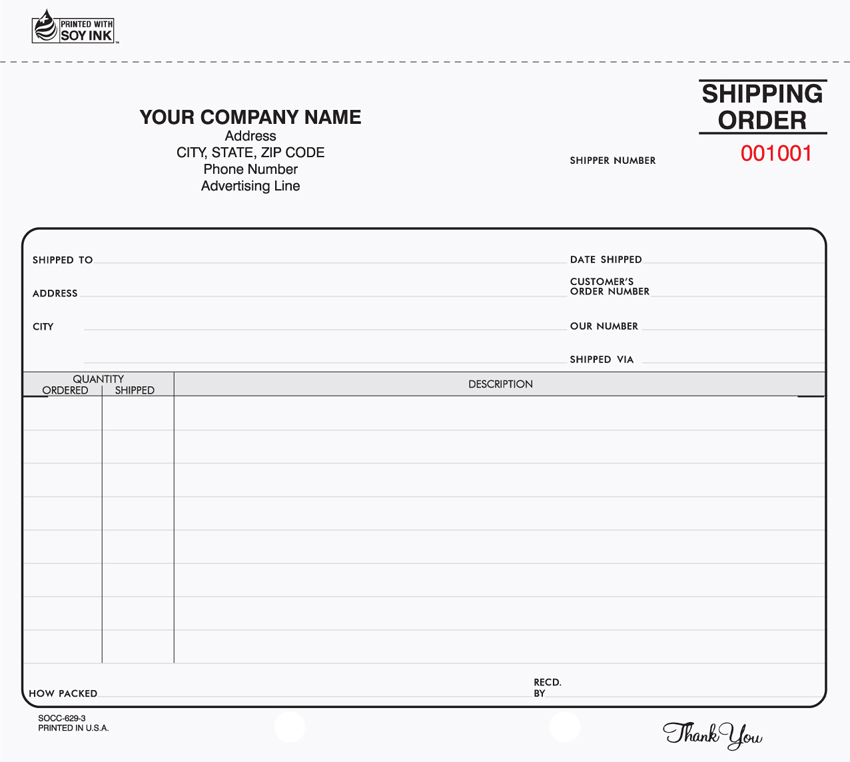 SHIPPING / RECEIVING FORMS
