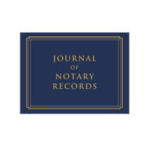 Notary Journal - Blue Linen