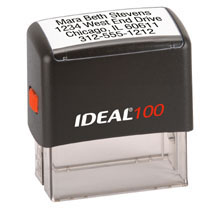 "Trodat 4913 Self Inking Notary Stamp - 7/8"" x 2 3/8"""