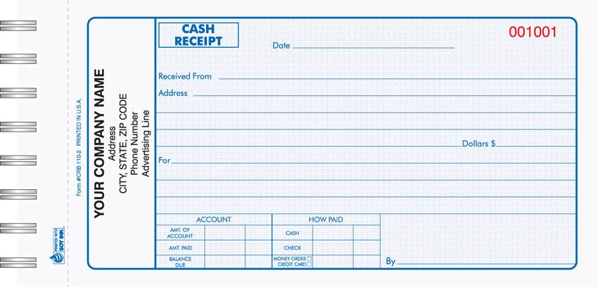 cash receipt template .