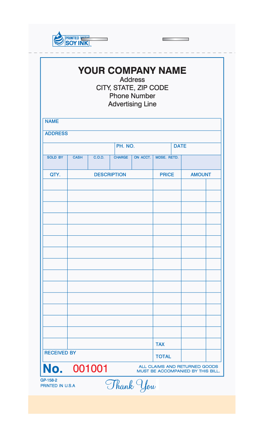 General Sales Booked Form - GP-158-3 Part - 4.25 x 7