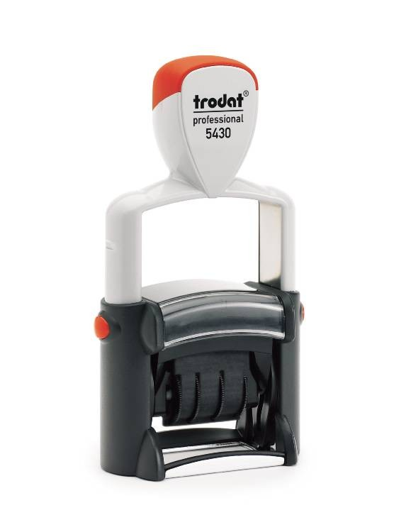 "TRODAT 5430 Self-Inking Stamp Plus Dater - 1"" x 1 5/8"""